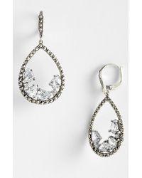 Judith Jack   Metallic Cluster Teardrop Earrings   Lyst