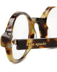 Kate Spade | Brown Womens Foster Bl10 Round Reading Glasses | Lyst