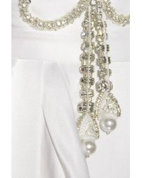 Temperley London | White Scarlett Crystal-embellished Silk-satin Gown | Lyst
