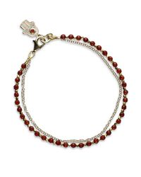 Astley Clarke | Red Garnet Cosmos Biography Bracelet | Lyst