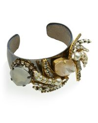 Erickson Beamon | Brown Beauty and The Beast Cuff | Lyst