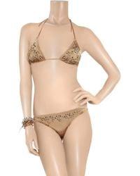 Melissa Odabash - Brown Monte Carlo Studded Triangle Bikini - Lyst