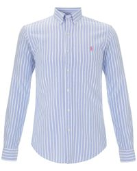 Polo Ralph Lauren | Blue Stripe Washed Oxford Slim Fit Shirt for Men | Lyst
