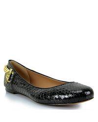 Rachel Zoe - Laura - Black Leather Ballerina Shoes - Lyst