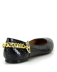 Rachel Zoe | Laura - Black Leather Ballerina Shoes | Lyst