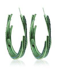 Roberto Cavalli | Green Ramage Hoop Earring | Lyst