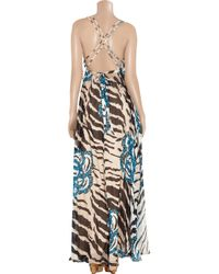 Temperley London - Metallic Antique Gold Long Tamir Dress - Lyst