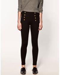Zara | Black High Waisted Leggings | Lyst