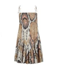 AllSaints | Brown Ikat Dress | Lyst