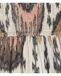 AllSaints - Brown Ikat Dress - Lyst