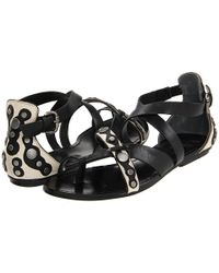 Belle By Sigerson Morrison - Black Sandals Tamila Strappy - Lyst