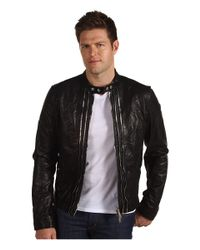 DSquared² | Black Multi-zip Biker Nappa Leather Jacket for Men | Lyst