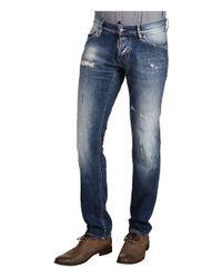 DSquared² | Blue Straight Leg Jean for Men | Lyst