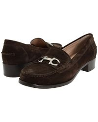 Ferragamo | Brown Casper Suede Loafer | Lyst