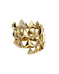 House of Harlow 1960 - Metallic Pyramid Wrap Ring with Pave - Lyst