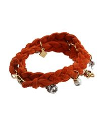 Juicy Couture - Orange Brentwood Suede Multi Charm Bracelet - Lyst