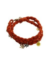Juicy Couture | Orange Brentwood Suede Multi Charm Bracelet | Lyst