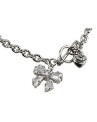 Juicy Couture | Metallic Cubic Zirconia Bow Wish Bracelet | Lyst