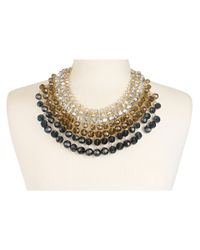 kate spade new york - Gray On The Avenue Bib Necklace - Lyst