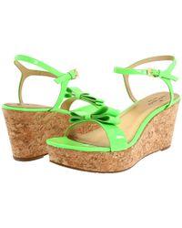kate spade new york | Green Bandit Cork Wedge Sandal | Lyst