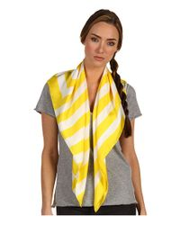 kate spade new york | White Sailor Stripe Silk Scarf | Lyst