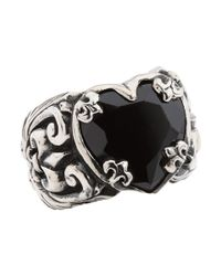 King Baby Studio - Black Heart Ring - Lyst