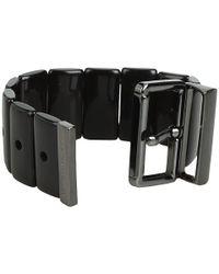 Marc By Marc Jacobs - Black Predator Stretch Buckle Bracelet - Lyst
