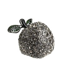 Marc By Marc Jacobs | Metallic Anniversary Pave Apple Ring | Lyst