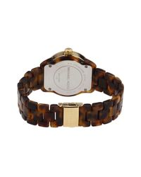 Michael Kors - Metallic Acetate Tortoise Bracelet Watch - Lyst