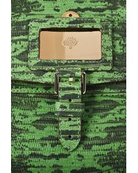 Mulberry - Green Lizard-Print Leather Shoulder Bag - Lyst