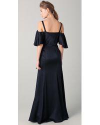 Temperley London | Black Long Scarlet Shoulder Dress | Lyst