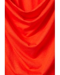 Topshop   Red Open Back Cover Up Tee   Lyst