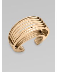Vionnet | Metallic Structured Slotted Cuff Bracelet | Lyst