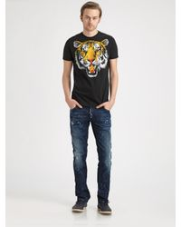 DSquared²   Black Abstract Print T-shirt for Men   Lyst