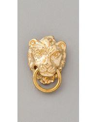 Fallon - Metallic Gia Lion Stud Earrings - Lyst