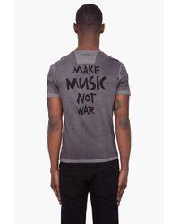 John Varvatos - Gray Short Sleeve Make Music Graphic Tee for Men - Lyst