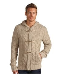 VINCE | Natural Hooded Toggle Cardigan for Men | Lyst