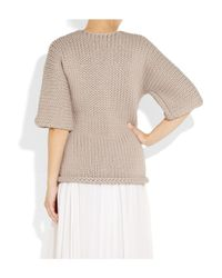 J Brand | Purple Moyet Chunky-knit Cotton-blend Sweater | Lyst