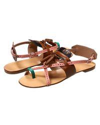 Proenza Schouler   Multicolor Flat Sandal with Tassel   Lyst