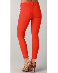 Rag & Bone | Orange Capri Skinny Jean - Crimson | Lyst