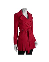 Via Spiga   Red Raspberry Double-breasted Scarpa Belted Trench Coat   Lyst