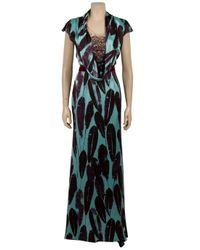 Carolina Herrera | Green Feather Print Gown | Lyst