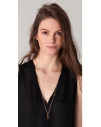 Gorjana | Metallic Cross Over Long Necklace | Lyst