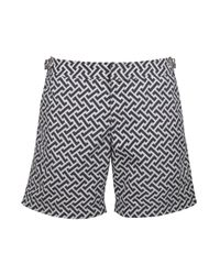 Orlebar Brown | Blue Bulldog Geometric Shorts for Men | Lyst