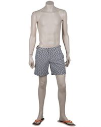 Orlebar Brown - Blue Bulldog Geometric Shorts for Men - Lyst