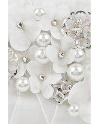Oscar de la Renta | White Silk Embroidered Clutch | Lyst