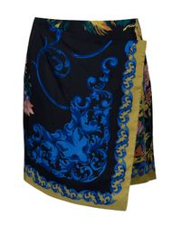 Tibi - Black Baroque Scarf Wrap Skirt - Lyst