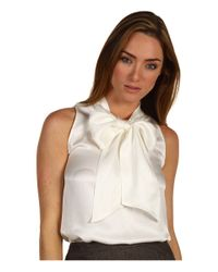 kate spade new york | White Adira Bow-neck Top | Lyst