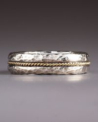 Konstantino | Metallic Hammered Band Ring for Men | Lyst