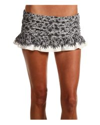 Juicy Couture | Gray Little Lulu Skirted Bikini Bottoms | Lyst